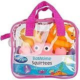 Playgro Spritztier-Set Rosa, 8-teilig, Mit bunten Tierfiguren, Ab 6 Monaten, Figurgröße: 11cm, Rosa/Orange, 40077