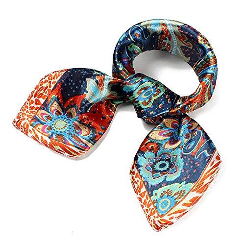 UK_Stone Damen Retro Paisley Blumen Muster Gross Bandana Schal - Stewardess Kostüm Muster