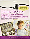 Jacquard Products 8.5 x 11-inch ExtravOrganza Silk Ink Jet Fabric Sheets, Pack of 5, White