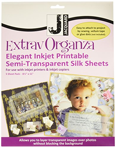 Jacquard products Extravaganza Silk Inkjet Fabric Sheets