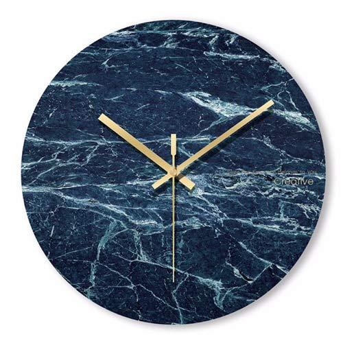 XYQY Reloj Pared mármol Minimalista nórdico Reloj