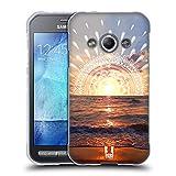 Head Case Designs Sonnenuntergang Traum Doodle Soft Gel Hülle für Samsung Galaxy Xcover 3