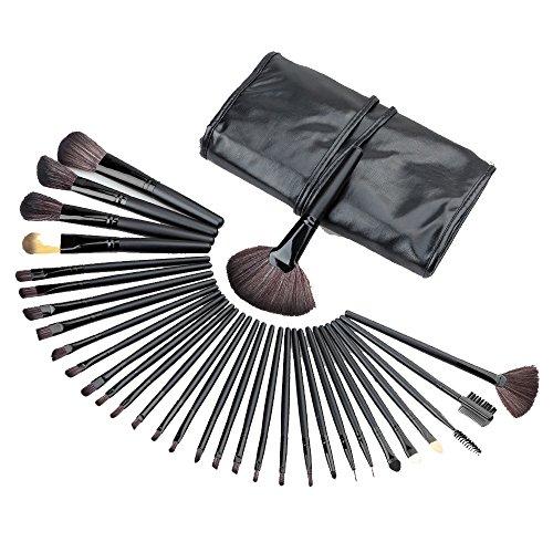 kingko® 32pcs / set Mini Fondation pinceau de maquillage Sourcils Eyeliner Blush cosmétiques Concealer Brushes (noir)