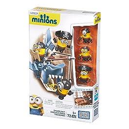 MINIONS – Juego de construcción, atrapar al tiburón (Mattel CNF54)