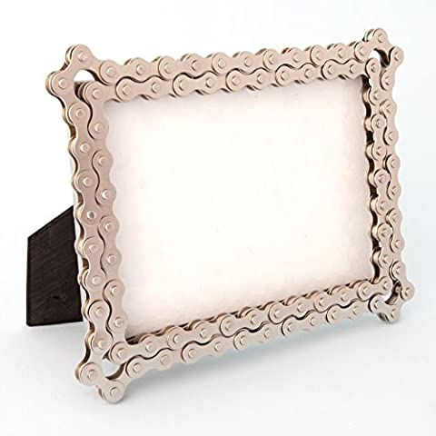 Photo Frame - Recycled Bicycle Chain - Hand Crafted Photo