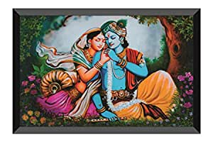 SAF Radha Krishna Design Exclusive Art with Frame (14 inch X 20 inch) AANFM25