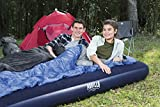Pavillo Airbed Quick Inflation Outdoor Air Mattress and Travel Bag, Blue, Double