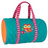 Stephen Joseph Little Girls' Quilted Duffle, Teal Owl, One Size