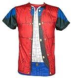SD Toys Herren T-Shirt Marty Mcfly, Rot (Roja SDTUNI20513), S