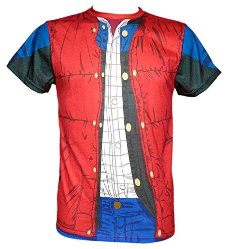 SD Toys Herren T-Shirt Marty Mcfly Rot (Roja SDTUNI20513) S