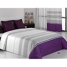 Reig Martí Andria - Juego de funda nórdica estampada, 3 piezas, para cama de 150 cm, color morado