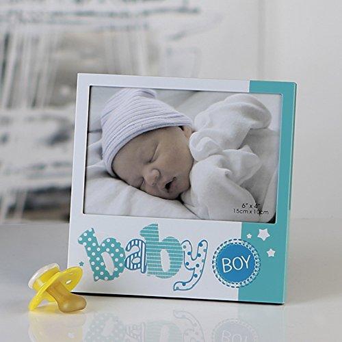 Foto cornice baby boy metallo blu 16x 16cm foto 10x 15cm portafoto nascita battesimo