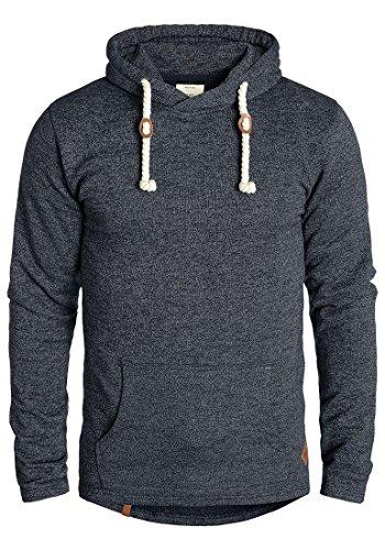 REDEFINED REBEL Mosi Herren Kapuzenpullover Hoodie Sweatshirt aus 100% Baumwolle Meliert Navy Mel. (1380)