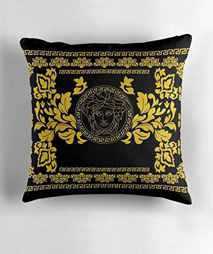 Hiaopp Gold Medusa Quadratischer Kissenbezug 45,7 x 45,7 cm