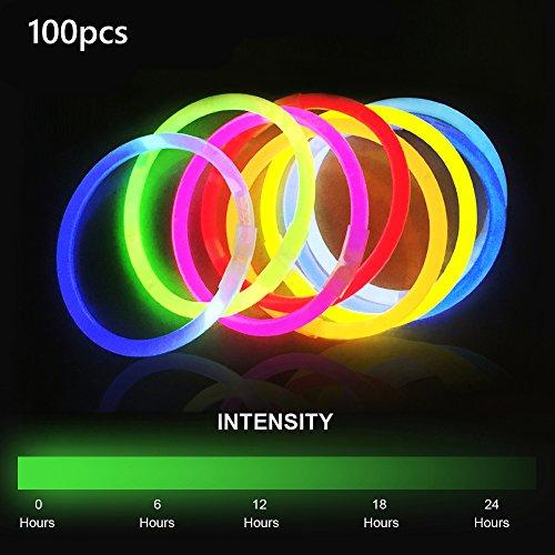 Knicklichter Armreifen Glowstick Partylichter Leuchtbänder mit Verbindungen DIY Spielzeug (Halloween-party-grenzen)