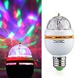 E27 3W LED Rotierend Rotating RGB Lampe Licht Birne Party AC 85-260V Lichteffekt