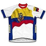 Bandera de Ecuador manga corta de ciclismo para mujer, mujer hombre, color blanco, tamaño extra-large
