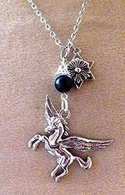 pendentif pegase licorne ailée lapis lazuli