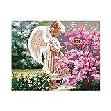 DIY 5D Diamant Malerei, wuayi Charakter Blume Angel Kiss 5D Diamant Malerei Kristall Stickerei Strass eingefügt Bilder Set für Home Wand-Decor, C:30x25cm, Einheitsgröße