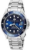 Henry Jay Specialty Aquamaster Reloj para hombre, acero inoxidable, buceo profesional, reloj con fecha