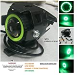 #5: PR Fog Light Led Universal Motorycle Bike & Scooter (1Pc) (Green Ring) High Beam,Low Beam,Flashing Modes with and For Bajaj Avenger Street 150