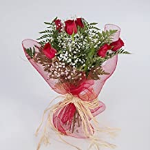 Ramo de 6 rosas rojas naturales FLORES FRESCAS-ENVIO EN 24 HORAS