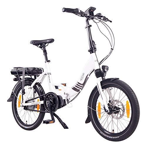 """NCM Paris MAX N8R E-Bike, E-Faltrad, 250W, 36V 14Ah 504Wh Akku, 20\"""" Zoll (Weiß mit Rollenbremse (N8R))"""
