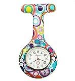 Boolavard® TM Multi Farben Krankenschwester Brosche Fob Tunika Uhr Silikonhülle Krankenschwester Uhren (Blasen)
