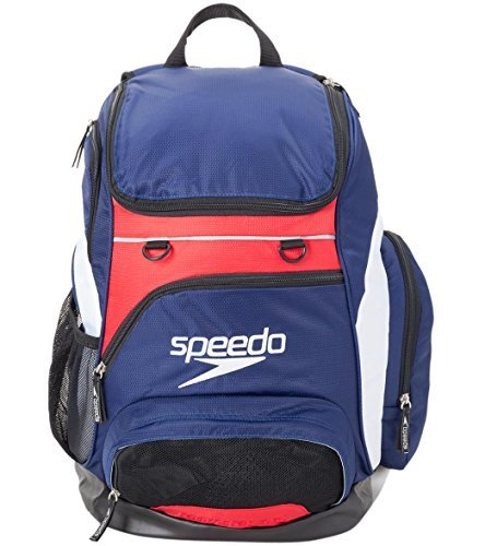 Speedo Teamster Mochila, Unisex Adulto, Azul (Navy / Red / White), 35 l