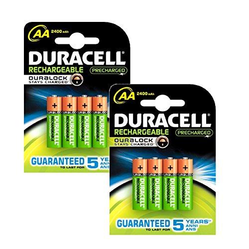 Schneiden, Edge Duracell Pre Charged AA 2400mAh BATTERIES-- 8, Cleva Edition ® Alute ® - Duracell Pre-charged
