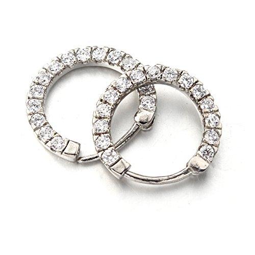 Vcmart piercing septum anneau nez plaqué argent orné des strass bijou de corps 1