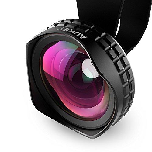 AUKEY Objektiv Handy Clip 0,63x Weitwinkel Universal Klemme Objektiv Smartphone für iPhone 6 / 6 Plus , iPhone 6S / 6S Plus , iPhone 5S / 5 , Samsung Galaxy S6 / S6 Edge / S5 usw.