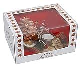 Oppacher Advent Kerzen-Tischgesteck Klein Orange mit Geschenkverpackung Adventsgesteck Kerzenhalter Größe Circa 18 x 8 x 7 cm