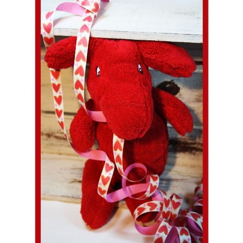 IKEA Stofftier Kuscheltier TASSA Hund kuschelig rot Höhe ca. 30 cm ULTRA_RAR!!!!!