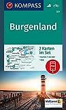 Burgenland: 2 Wanderkarten 1:50000 im Set inklusive Karte zur offline Verwendung in der KOMPASS-App. Fahrradfahren.: 2-delige Wandelkaart 1:50 000 (KOMPASS-Wanderkarten, Band 227)
