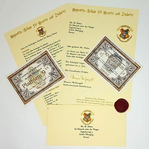 planetsforsale Harry Potter Personalisierter Hogwarts-Aufnahmebrief