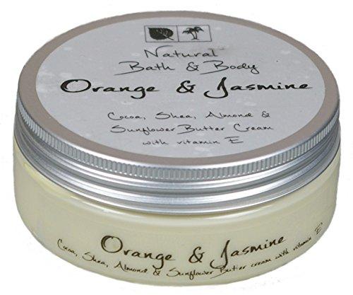 Kakaobutter Creme Handcreme Gesichtscreme ORANGE & JASMINE 200 ml mit Sheabutter geeignet auch für sehr trockene Haut