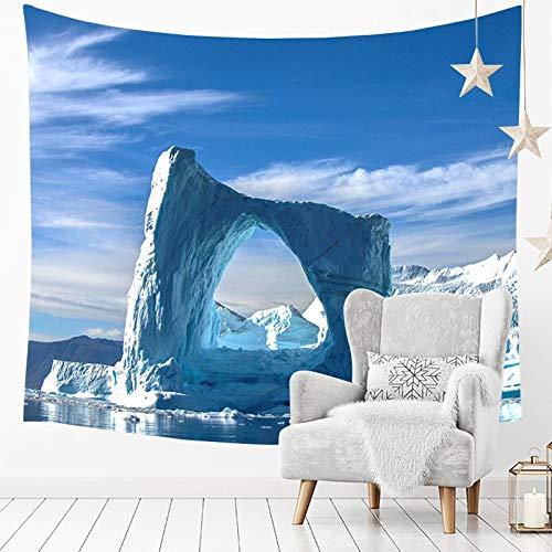 Schnee Berg Gletscher gedruckt Tapisserie Muster Wandbehang Home Bett Yoga Mat Blatt Tischdecke Strand Decke Wand Bettdecke GT-374 (Color : 5, Size : 200 * 150)