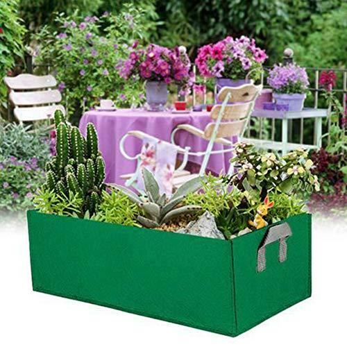 lnimikiy, grande borsa per la coltivazione, rettangolare, anti-corrosione, per coltivare verdure, verdure, fragole, fiori, frutta e molto altro ancora
