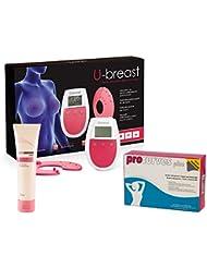 U-Breast + Procurves Plus et Cream: Appareil d'électrostimulation, pilules et crème pour augmenter les seins