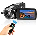 Videocamera HD, stoga P301 HD 1080P visione notturna IR 24,0 mega pixel, fotocamera digitale 16x zoom DV 2,7 TFT LCD HDV video rotazione videocamera con schermo touchscreen e registratore video