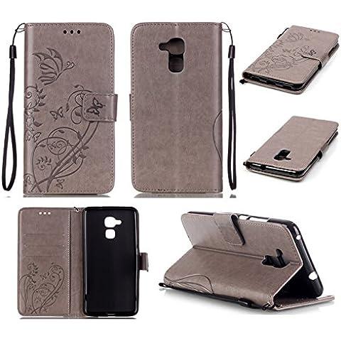 Dooki, Honor 5C Custodia, Stare in Piedi Portafoglio Flip PU Pelle Cuoio Caso Custodia per Huawei Honor 5C Con Credito Carte Supporto Fessura (Honor 5C, A-02)