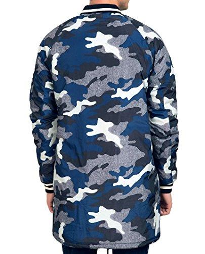 Red Bridge Herren Bomberjacke Fliegerjacke Lang und Kurz Jacke Camouflage Tarnmuster Navy-Lang