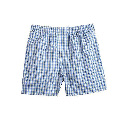 Pau1Hami1ton B-01 Herren Baumwolle BoxerShorts Karo Woven Boxer Shorts Unsichtbar Elastische Taille Unterhose Unterwäsche,1 Packung, 44 Farben(26#,XL)