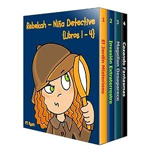 Rebekah - Niña Detective Libros 1-4: Divertida Historias de Misterio para Niños Entre 9-12 Años (El Jardín Misterioso, Invasión Extraterrestre, M