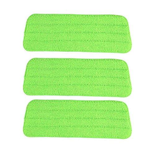 3PCS Hands-free Waschmopp - Tuch Mikrofaser-wiederverwendbare Unterlage für nasse oder trockene Bodenreinigung und Schrubben