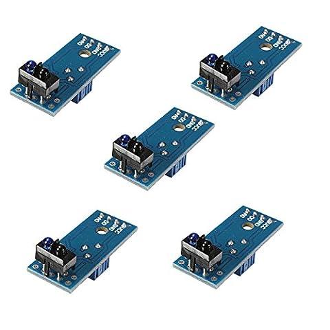 Aihasd 5PCS TCRT5000 Module de suivi des Tracker infrarouge Capteur réfléchissant Pour Arduino