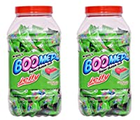 Wrigley Boomer Super Bubble Gum Jelly, Watermelon Flavoured (184 Pcs) (Pack of 2)