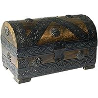 Preisvergleich für Generic reasure Pirat Brust Treasure ST Treasure Aufbewahrungsbox Truhe Woo Antik Look D Stor Brust Holz