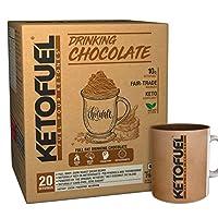 KETOFUEL DRINKING CHOCOLATE Keto Cocoa Powder with MCTs & Coconut 20 pks/box with Free Mug
